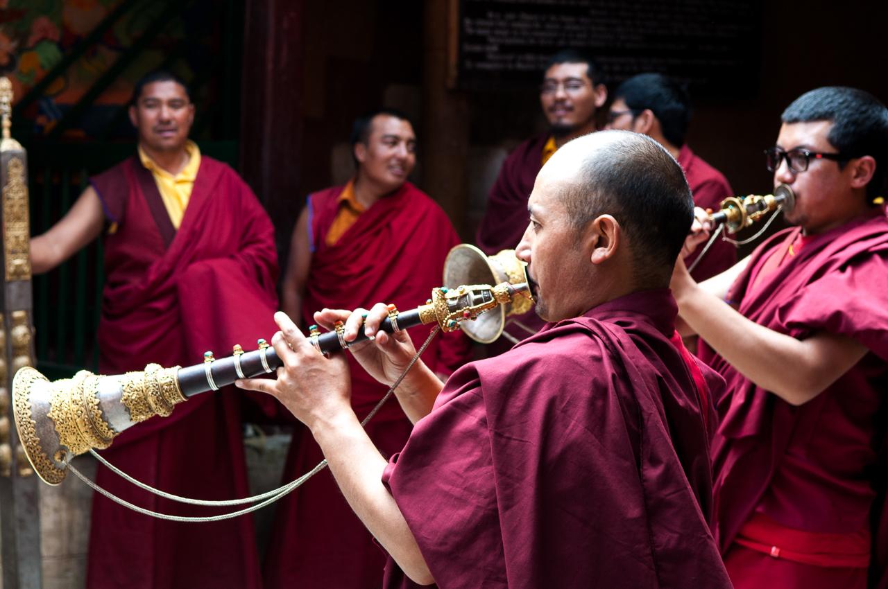 Obřad v klášteře Lamayuru