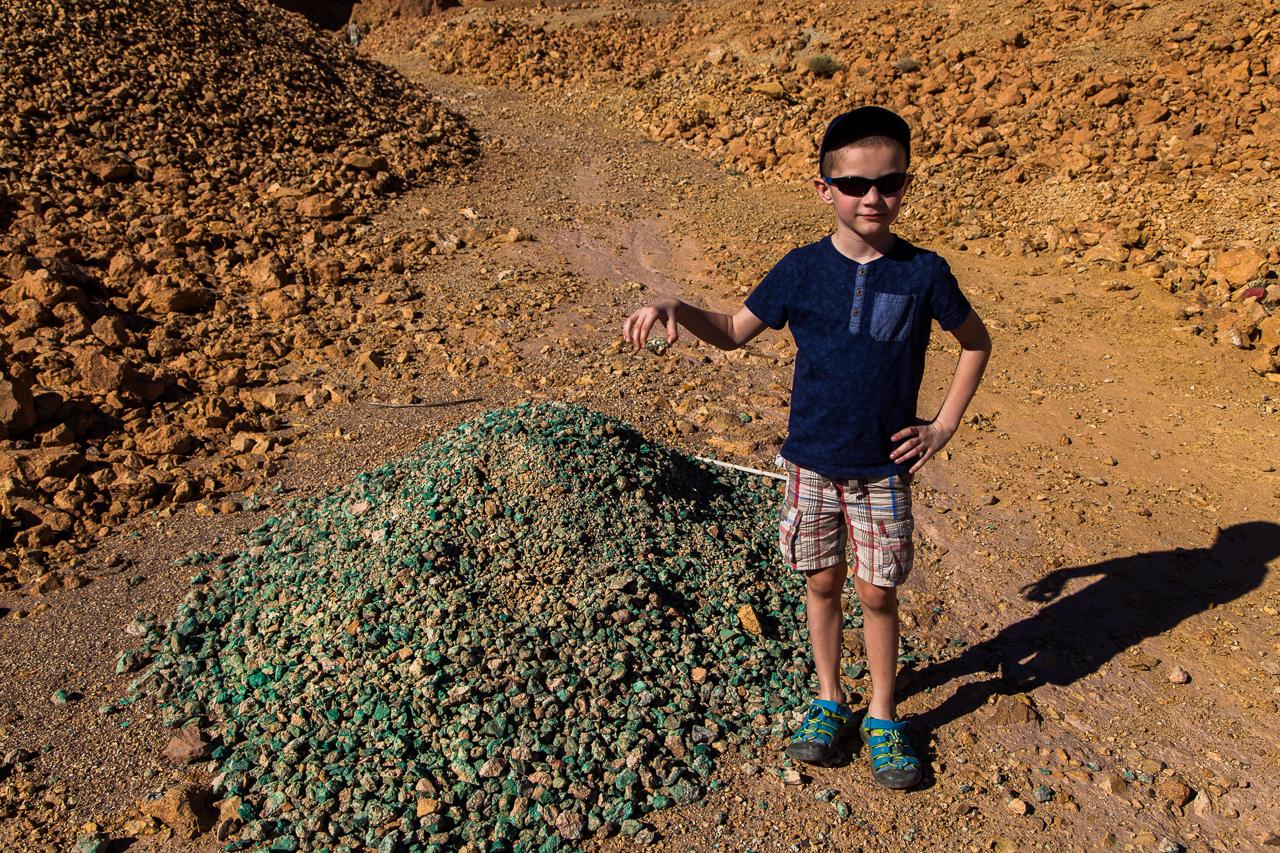 Maroko, olověný důl Planine de Mamlelt