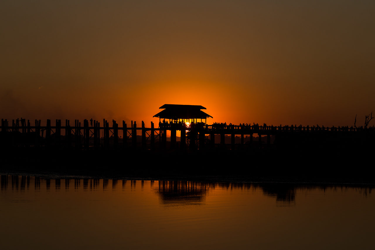 Mandalay Teak bridge, Burma