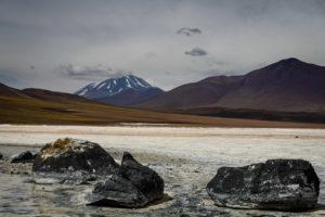Salar Aguas Calientes, volcano Llullaillaco