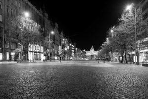 Praha Václavské náměstí koronavirus